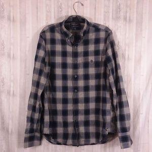 AEO Slim Fit plaid shirt sz S